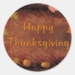 Happy Thanksgiving Round Sticker