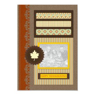 happy thanksgiving (scrapbook) card
