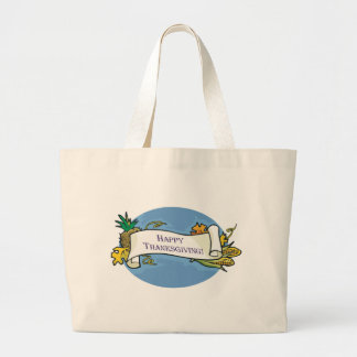Happy Thanksgiving Scroll Tote Bags