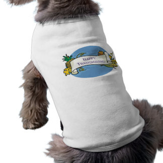 Happy Thanksgiving Scroll Dog T Shirt