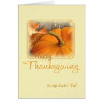 Happy Thanksgiving Secret Pal Card