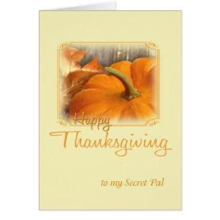 Happy Thanksgiving Secret Pal Card at Zazzle