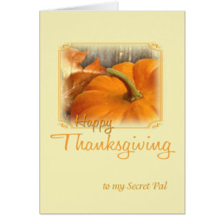 Happy Thanksgiving Secret Pal Greeting Card