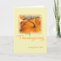 Happy Thanksgiving Secret Pal Holiday Card