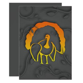 Happy Thanksgiving Shadow Turkey Card