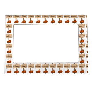 Happy Thanksgiving Sign Magnetic Photo Frame