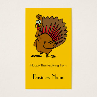 Happy Thanksgiving Silly Turkey Business Card