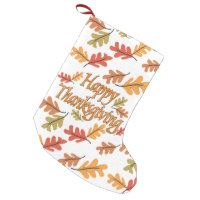 Happy Thanksgiving Small Christmas Stocking