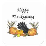 Happy Thanksgiving Square Sticker