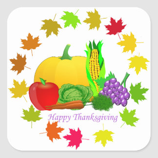 Happy Thanksgiving Square Sticker