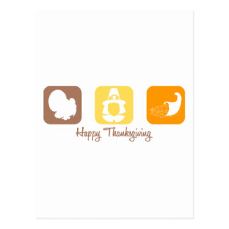 Happy Thanksgiving (Squares) Postcard