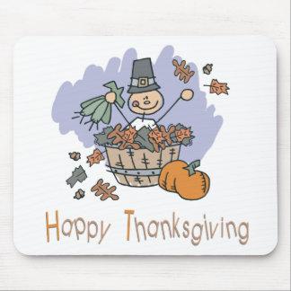 Happy Thanksgiving Surprise Doodle Mouse Pad