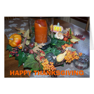 HAPPY THANKSGIVING Table Card