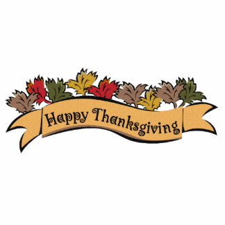 Happy Thanksgiving Table Decoration Cut Out