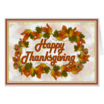 Happy Thanksgiving Text (harlow) Greeting Card