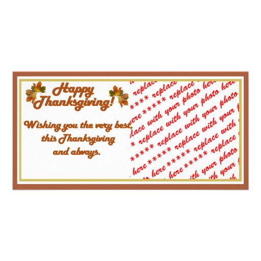 Happy Thanksgiving Text (harlow) Photo Greeting Card