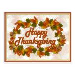 Happy Thanksgiving Text (harlow) Postcard