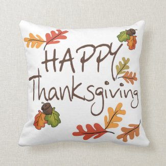 Happy Thanksgiving Throw Pillows
