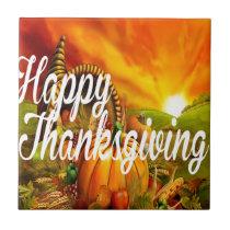 Happy Thanksgiving Tile