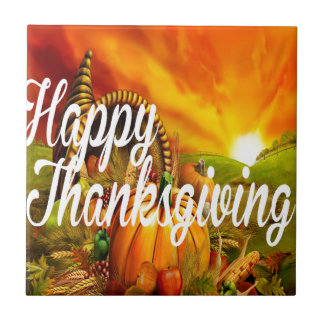 Happy Thanksgiving Tile