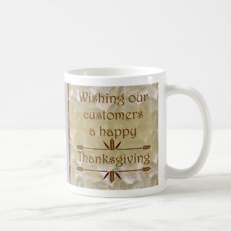 Happy Thanksgiving to customers with leaves Coffee Mug