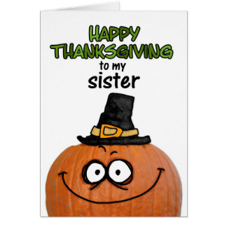 Happy Thanksgiving to my Sister Card