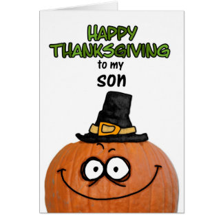 Happy Thanksgiving to my Son Card