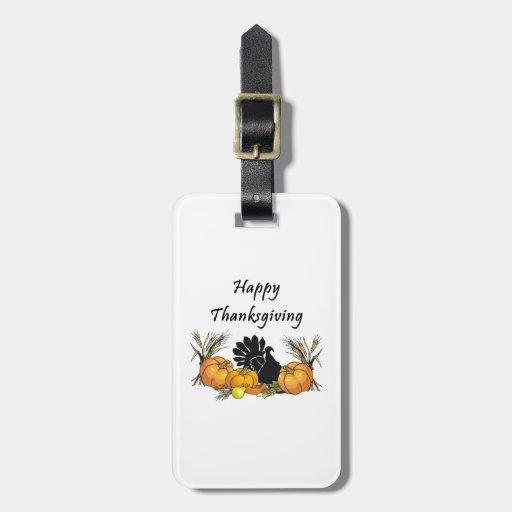 Happy Thanksgiving Travel Bag Tag