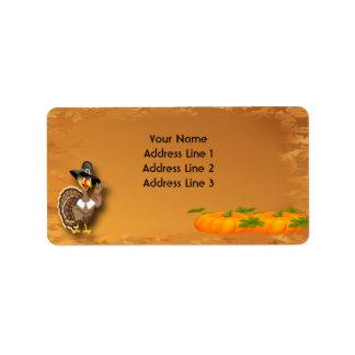 Happy Thanksgiving Turkey Address Labels