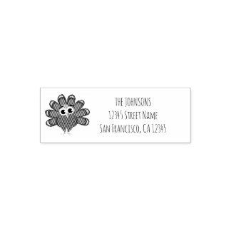 Happy Thanksgiving turkey bird illustration design Self-inking Stamp