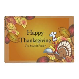 Happy Thanksgiving Turkey Bird Placemat