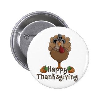 happy thanksgiving turkey 2 inch round button