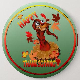 Happy Thanksgiving Turkey-Button Pinback Button