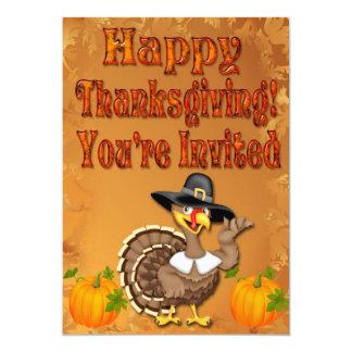 Happy Thanksgiving Turkey Invitations