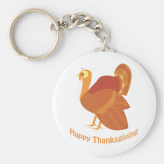 Happy Thanksgiving Turkey Keychain