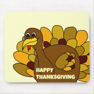 Happy Thanksgiving Turkey Mouse Pad