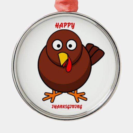 HAPPY THANKSGIVING Turkey Ornaments