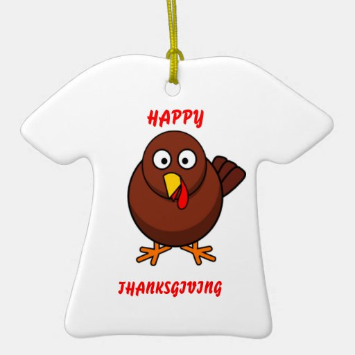 HAPPY THANKSGIVING Turkey Ornaments 2010