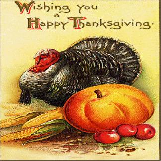 Happy Thanksgiving Turkey Photo Sculpture