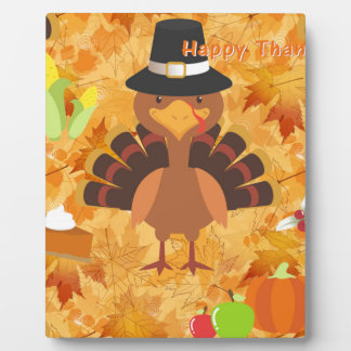 happy thanksgiving turkey plaque