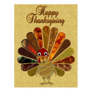 Happy Thanksgiving Turkey - Postcard