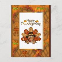 Happy Thanksgiving Turkey Postcard