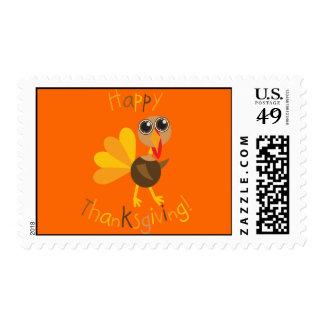 Happy Thanksgiving Turkey Stamp