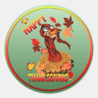 Happy Thanksgiving Turkey-Stickers