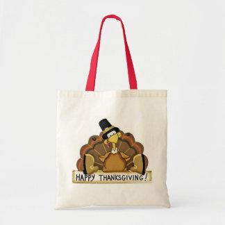 Happy Thanksgiving Turkey Tote Bag