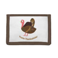 Happy Thanksgiving! Turkey Tri-fold Wallets