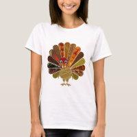 Happy Thanksgiving Turkey - Women's T-Shirt