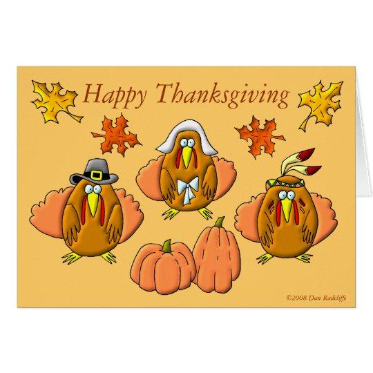 Happy Thanksgiving Turkeys Card