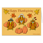 Happy Thanksgiving Turkeys Greeting Cards