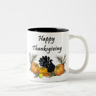 Happy Thanksgiving Two-Tone Coffee Mug